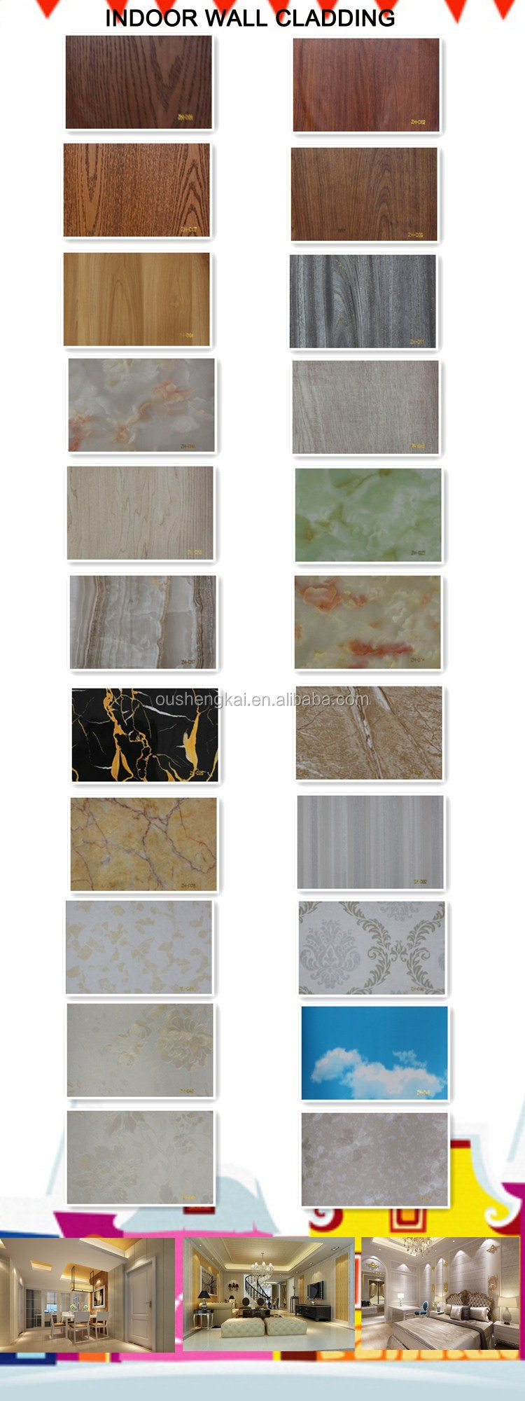 Wall decorative panel indoor wpc waterproof durable wall cladding