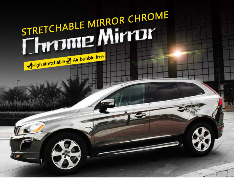 Tungsten Black Chrome Vinyl Car Wraps Carbins Film Premium View