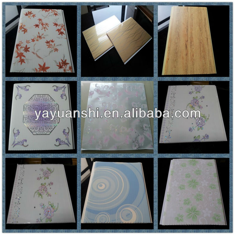 Philippines Wood Texture Design Plastic Pvc Ceilings Panel