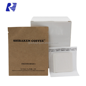 Cheap Price 10G Disposable Convenient Ear Drip Coffee Filter Sachet With Inner Bag And Packaging Box