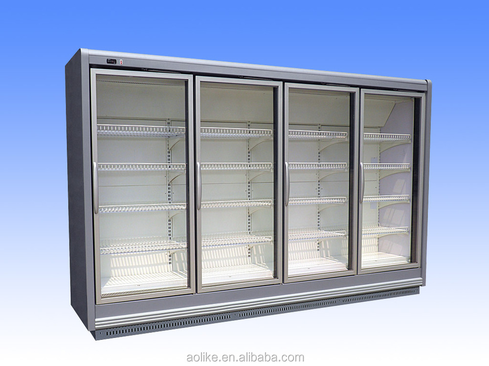 Remote glass door multideck display cooler