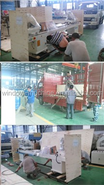 Single head plastic door window welding machine