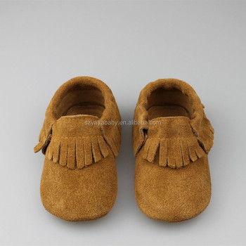 100% Handmade Suede Leather Baby Shoes