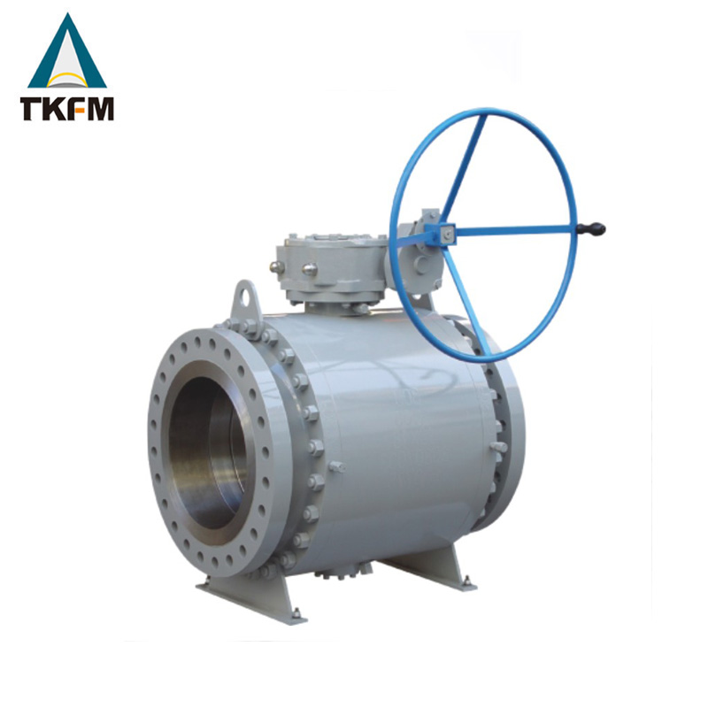 "TKFM hot sale high pressure fire proof 3 pc forged steel manual operation non-standard 16"" api 6d reduced bore ball valves"