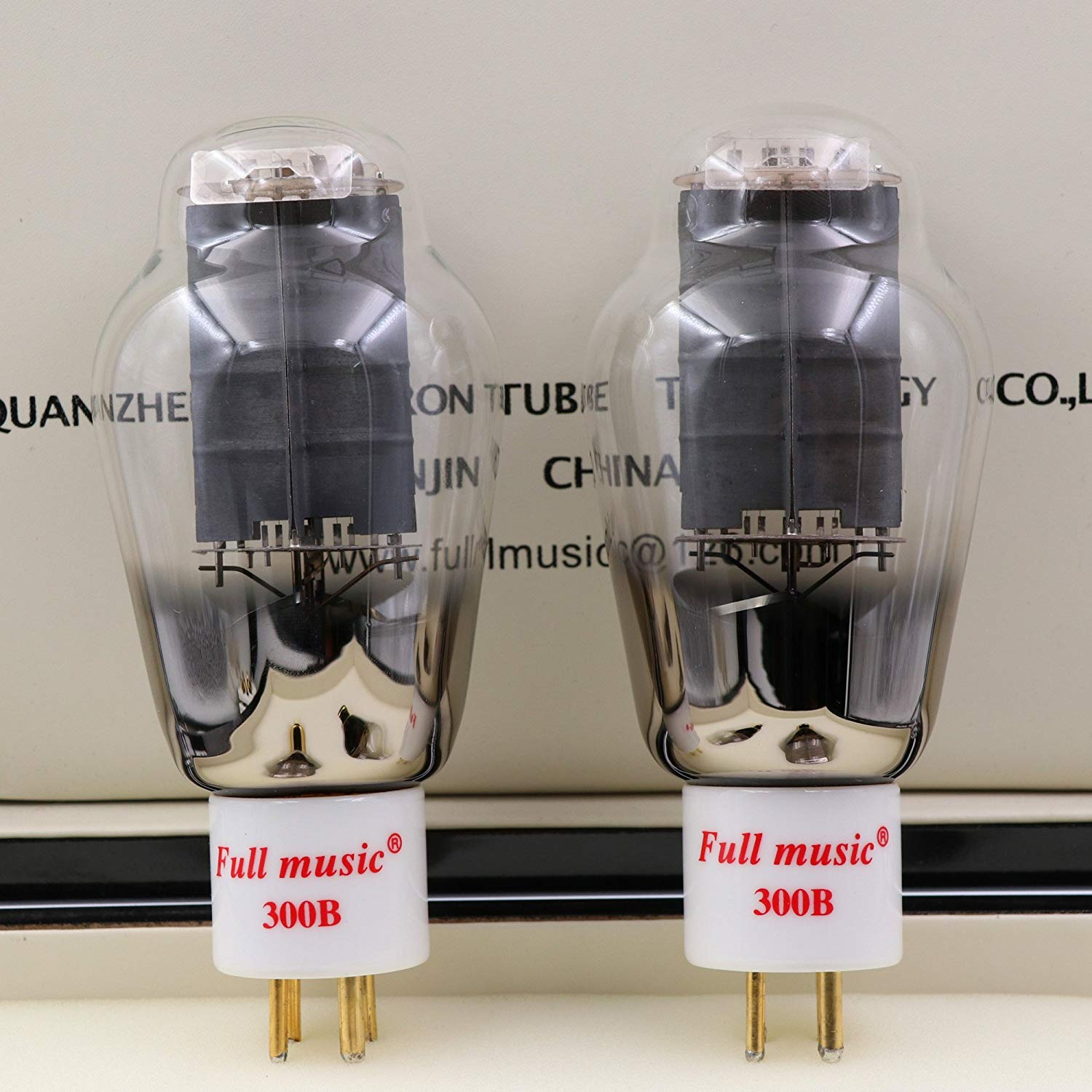 1Pair TJ Fullmusic 300B Vacuum Tube Solid Plate Gold pins Ceramic Base Alternative to other brands 300B Vacuum Tuba Audio