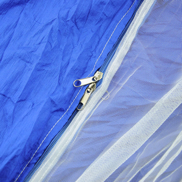 Blue Parachute Nylon Fabric Jungle Camping Outdoor Single Hammock