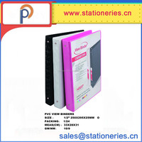 Office and school supplies colorful PVC View Binders
