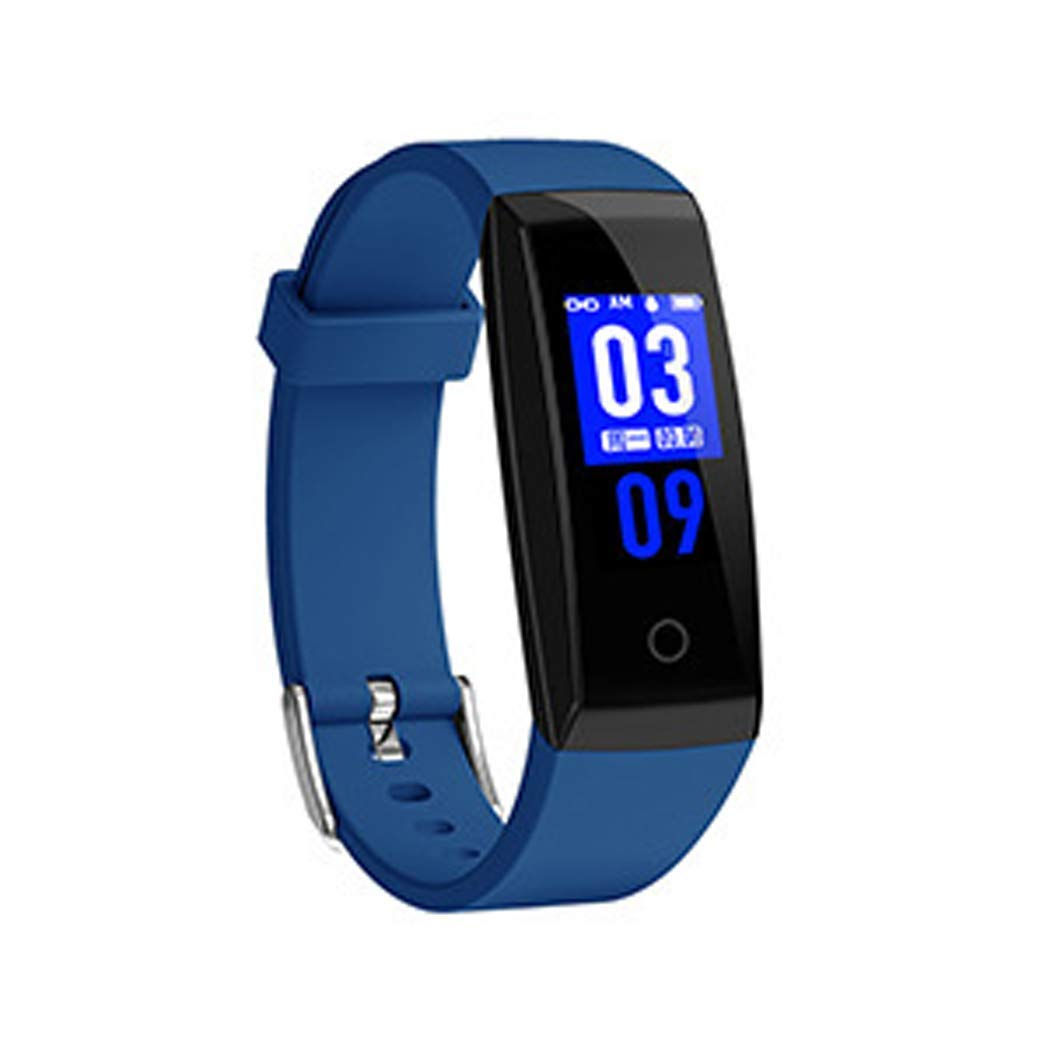 YWY Fitness Tracker Smart Watch with Sleep Monitor Bluetooth 4.0 Waterproof Smart Wristband Sport Watch Pedometer Activity Tracker with Alarm/Step Tracker/Calorie Counter (Color : Blue)