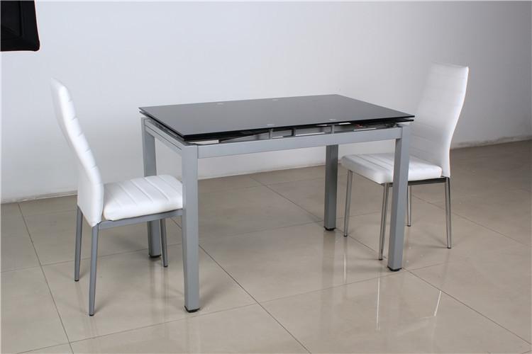 Multifuncional Diseño Extensible 6 Plazas Mesa De Comedor De Cristal ...