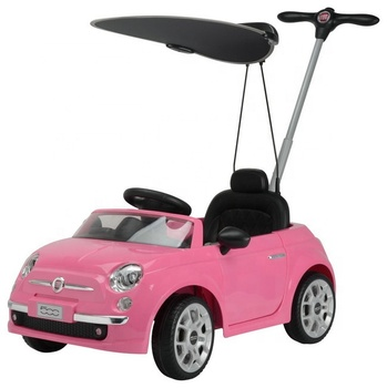 Fiat 500 Licensed Kids Toy Car Foot To Floor Baby Ride On Car With