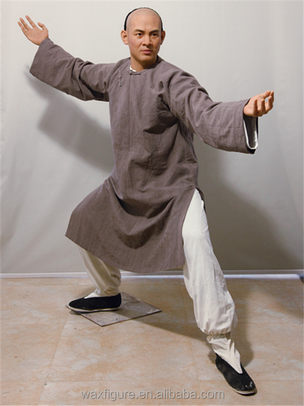 2016 Vivid Abstract Claywax Sculpture Chinese Kongfu Jet Li Wax ...