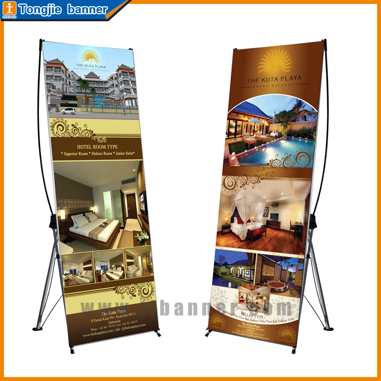 Aluminum and plastic X banner stand, adjustable X display stand, heavy duty X banner stand