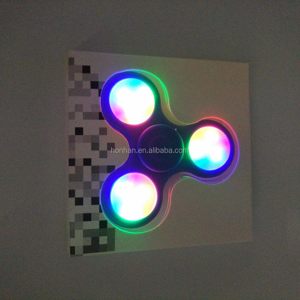 Hot Sell Factroy Price Metal Anti Stress Light Up Spinner