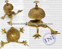 Brass Frog Design Table Bell, Brass Bells For Sale, Antique Brass Table Bell