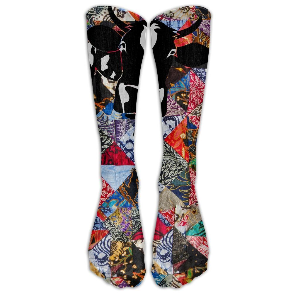 AugXmerry Cow Bull Ox Milk Farmer Farm Country Cows Dairy Pregnant Milker Beef Steak Comfortable Breathable And Stylish Calf Socks Athletic Socks