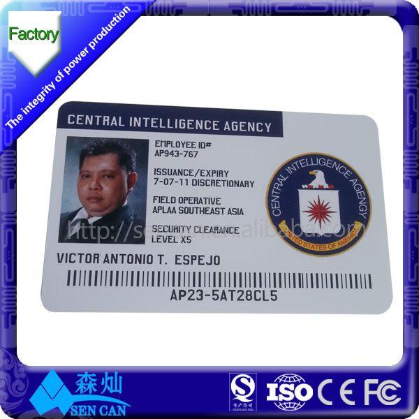 company/school/hospital staff id card design - buy staff id card