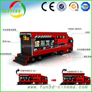 factory wholesale New fashion truck mobile 5d cinema,mini 5d projector cinema made in china