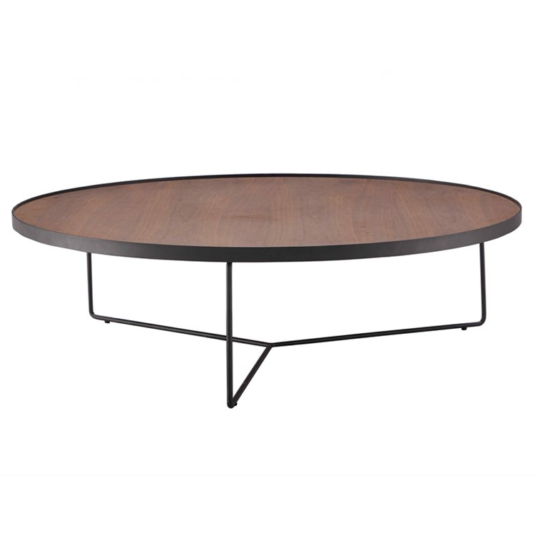 New Design Wooden Round Tea Table Coffee Table Metal Legs For Living Room  Table