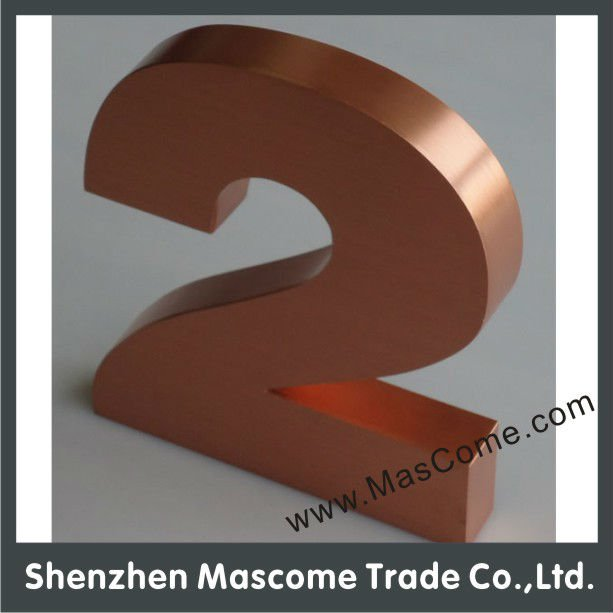Complanate Copper Reverse Channel Letters