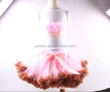 2015Wholesale Girls Pettiskirt Pink Baby Tutu Set Chiffon Fluffy Pettiskirt For Baby Girls Cute Skirt Infants Toddler Pettiskirt