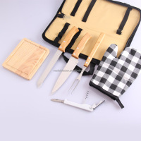 bbq tongs+knife+fork+shovel BBQ cooking tools set with carrying bag