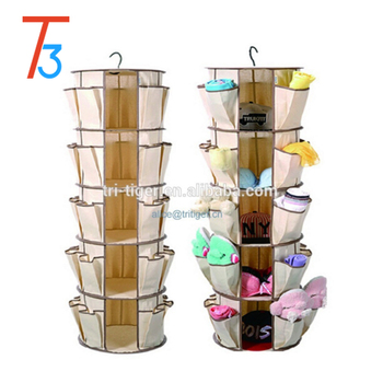 5 Shelf As Seen On Tv Shoes Hanging Organizer Smart Carousel