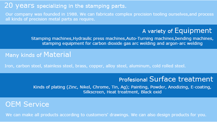 Chinese supplier metal flashing stamping energy parts