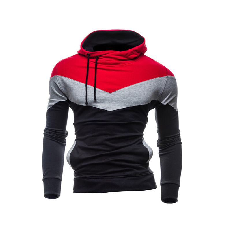 Get Quotations · New Brand Thick Mens Casual Sweatshirt Sports Hoodie  Tracksuits Long Sleeve 7 Color Patchwork Mens Hoodies 93d6713dcd75