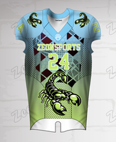 Custom Design Sublimated Football Sports Wear Quick Dry Fabric American football jersey