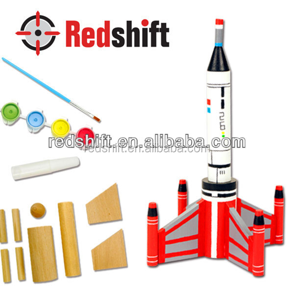 Arts & Crafts kit wooden toys Color your Tall Wooden Rocket