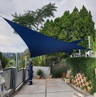 100% polyester 5*5*5M waterproof triangle sun sail shade