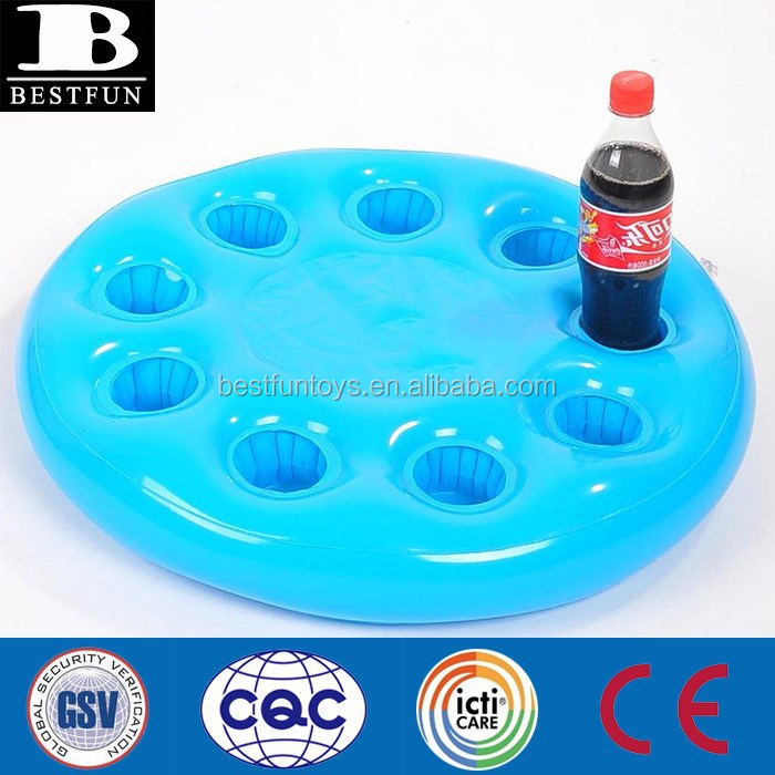 Promotional Inflatable Can Wine Cup Holder Pool Floating Drink ...
