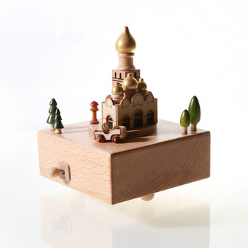 Solid wooden music box with pure music and hand making gifts for kids