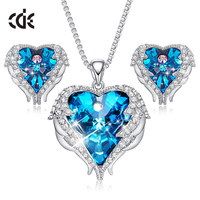 Guangzhou Custom Gemstone Heart Jewellery Womens Jewelry Set
