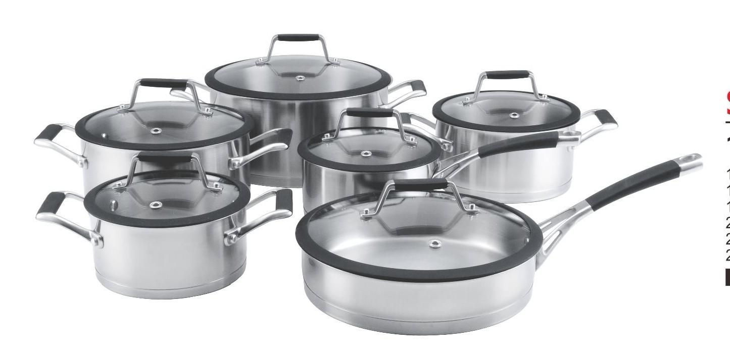 Sa 12004 juego de ollas de 12 piezas de acero inoxidable for Utensilios cocina acero inoxidable