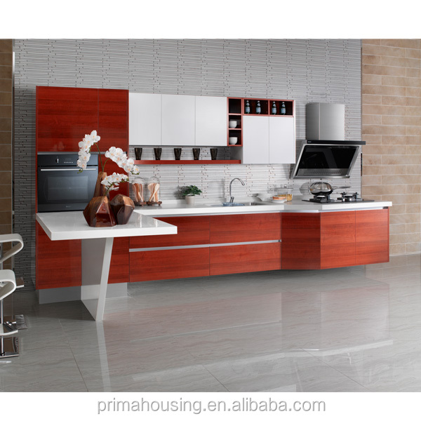 Fully Prefabricated Kitchen Unit Stainless Steel Top Kitchen Cabinet
