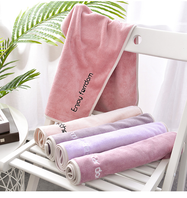 Wholesale soft premium recycled microfiber fabric embroidery fitness yoga towel custom package