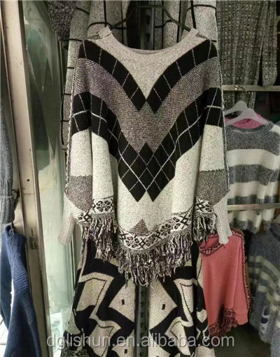 ladies fashion computer knitted pattern poncho