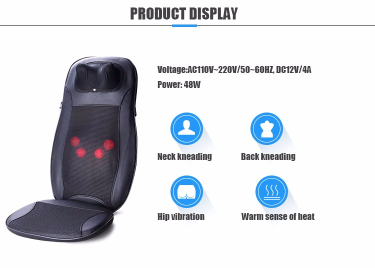 Electric Butt Massager Vibration Massage Chair Seat Cushion Back Massage Tool