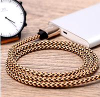 2017 Best Selling Nylon Braided 3f 6ft 9ft 2A Fast Charging USB Data Cable for Mobile