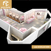 Customized factory price cosmetic shop display rack stand design, furniture for cosmetic display