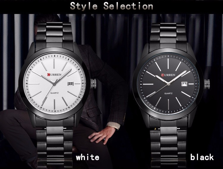 CURREN 8091 man Fashion Quartz-watch Casual Brand Relogio Masculino Water Resistance Stainless Steel Strap Wristwatch
