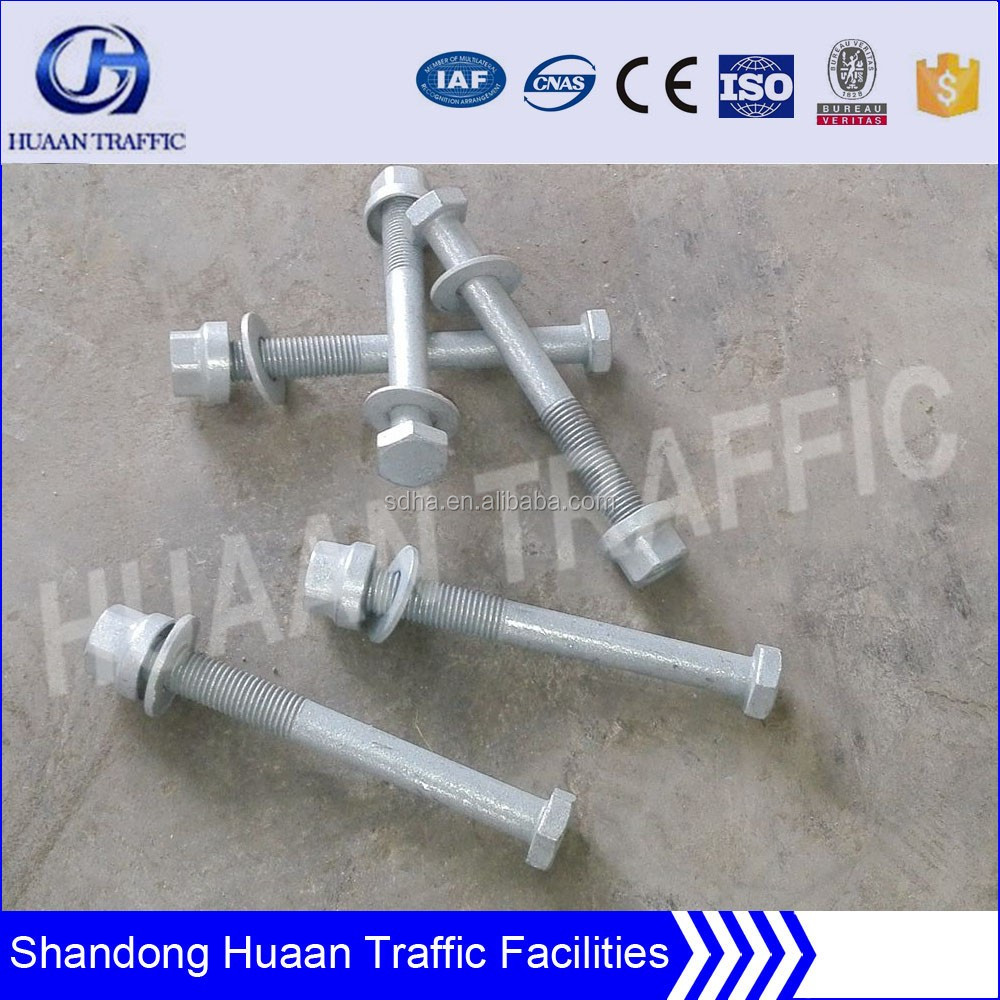 Galvanized Steel Guardrail rod and nut