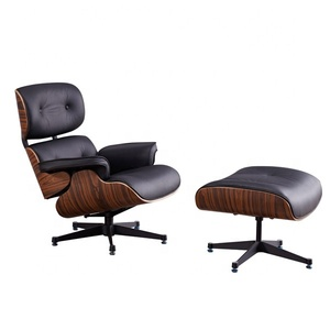 Genuine Italy leather chaise lounge chairs indoors, designer lounge chair,leather reclining chair
