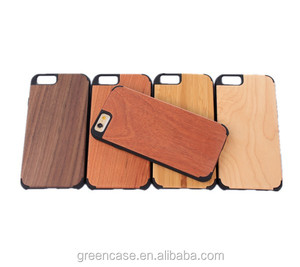 Wooden+PC Quadrate Camera One Piece Cell Phone Case for Iphone6/6s
