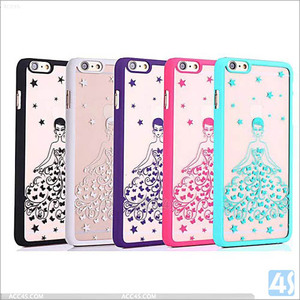 2016 New design romantic printed wedding dress cases cover for iPhone 6 plus ,Plastic Hard Cell Phone Case for iPhone 6 Plus