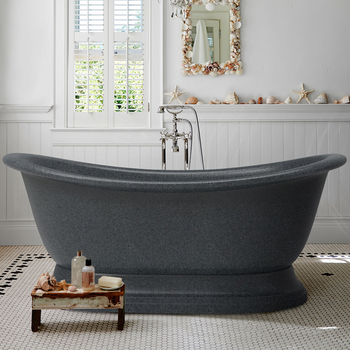 72'' china supplier black granite natural stone bathtub for sale