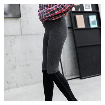 wholesale plus size women clothing maternity cropped seamless leggings pants