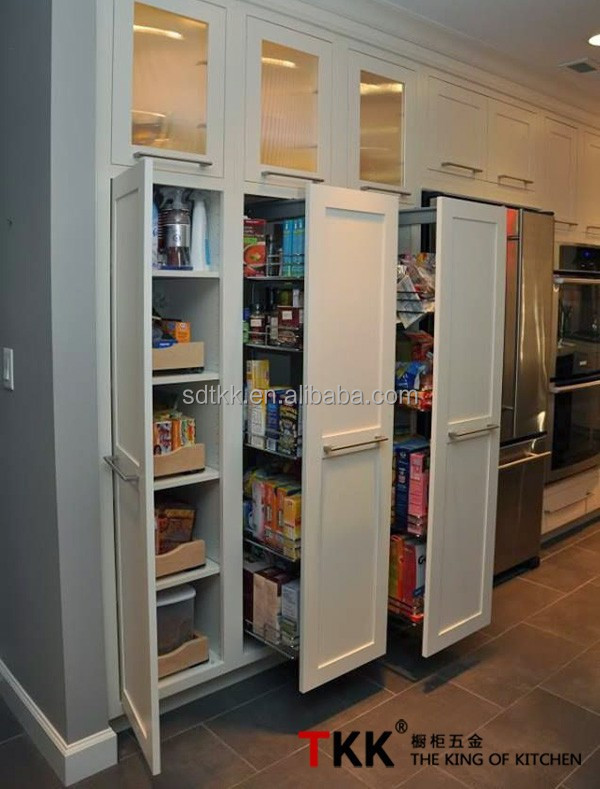 Soft-stop half tandem pantry unit/Kitchen Cabinet Pull Out wire storage solution