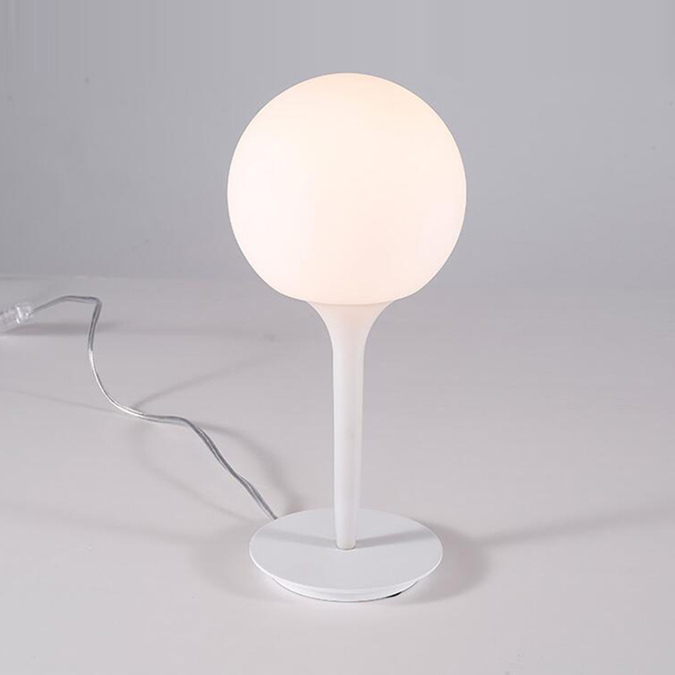 modern glass egg shaped table lamp milk white ball reading lamp